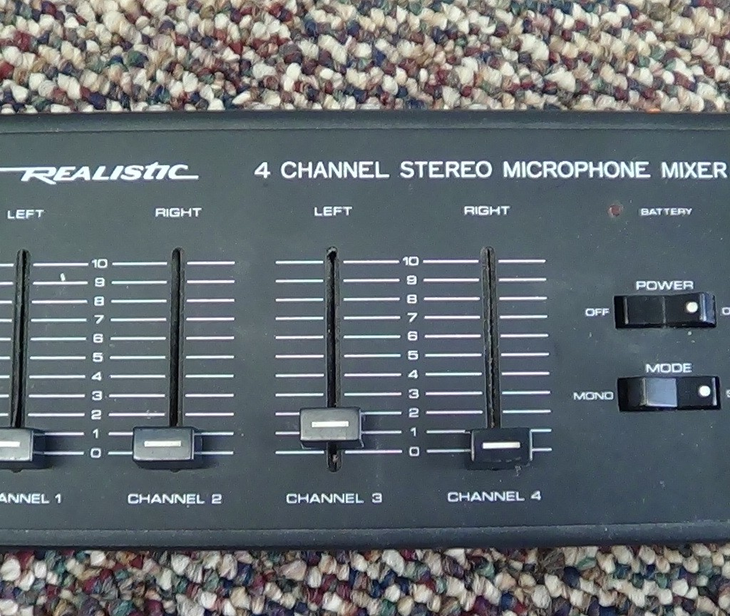 4 Channel Stereo Mic Mixer Only $40.00